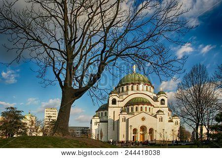 Belgrade (beograd), Serbia - Feb 2, 2007 - Church Of Saint Sava (hram Svetog Save, The Largest Ortho