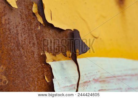 Rusted Metal Corrugated Metal Background.rusty Meta. Old Metal