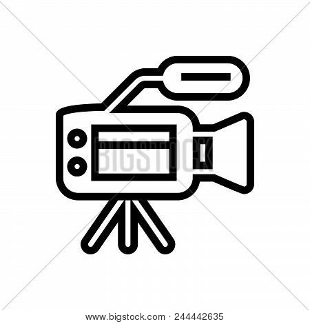Video Camera Vector Icon On White Background. Video Camera Modern Icon For Graphic And Web Design. V