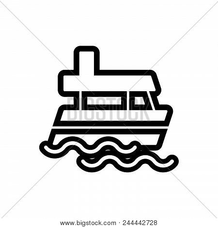 Floating Ship Vector Icon On White Background. Floating Ship Modern Icon For Graphic And Web Design.