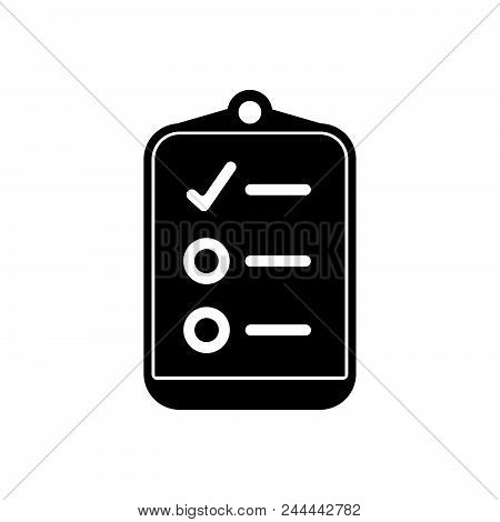 Check List Vector Icon On White Background. Check List Modern Icon For Graphic And Web Design. Check