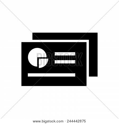 Chart Report Vector Icon On White Background. Chart Report Modern Icon For Graphic And Web Design. C