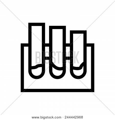 Medical Analysis Vector Icon On White Background. Medical Analysis Modern Icon For Graphic And Web D