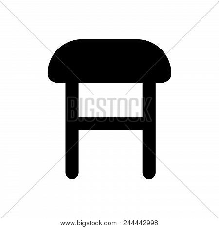 Comfortable Chair Vector Icon On White Background. Comfortable Chair Modern Icon For Graphic And Web
