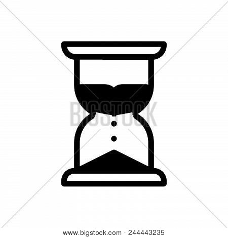 Sand Clock Vector Icon On White Background. Sand Clock Modern Icon For Graphic And Web Design. Sand