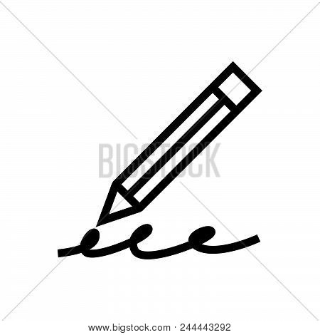Writing Pecil Vector Icon On White Background. Writing Pecil Modern Icon For Graphic And Web Design.