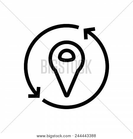 Refresh Location Vector Icon On White Background. Refresh Location Modern Icon For Graphic And Web D