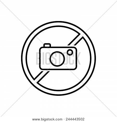 No Photo Vector Icon On White Background. No Photo Modern Icon For Graphic And Web Design. No Photo