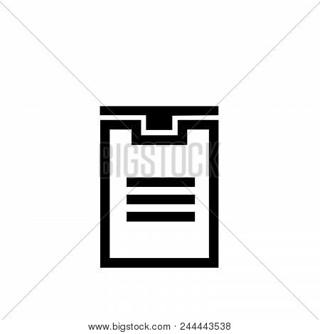 Delivery Box Vector Icon On White Background. Delivery Box Modern Icon For Graphic And Web Design. D