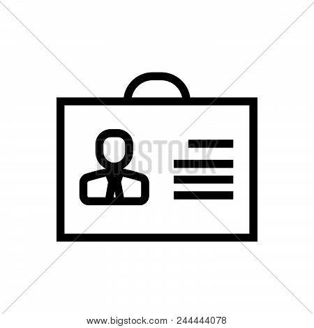 Male Profile Vector Icon On White Background. Male Profile Modern Icon For Graphic And Web Design. M
