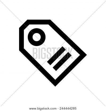 Tag Vector Icon On White Background. Tag Modern Icon For Graphic And Web Design. Tag Icon Sign For L
