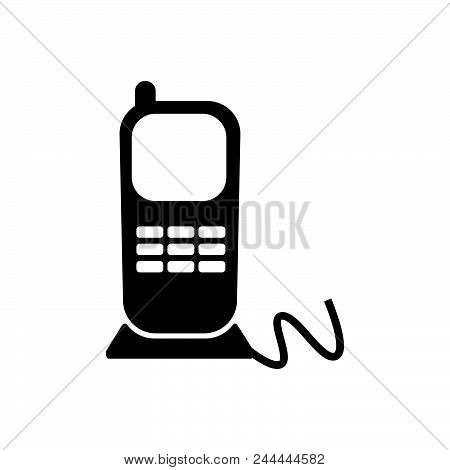 Stationery Phone Vector Icon On White Background. Stationery Phone Modern Icon For Graphic And Web D