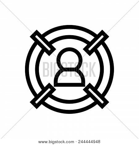 Target Customer Vector Icon On White Background. Target Customer Modern Icon For Graphic And Web Des