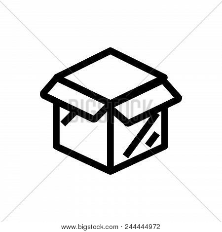 Open Package Outlind Outlined Symbol Of Open Box Icon. Open Box Icon. Open Box Icon. Open Box Icon.