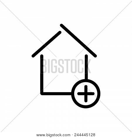 Add New Property Vector Icon On White Background. Add New Property Modern Icon For Graphic And Web D