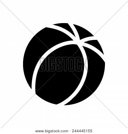 Ball Vector Icon On White Background. Ball Modern Icon For Graphic And Web Design. Ball Icon Sign Fo