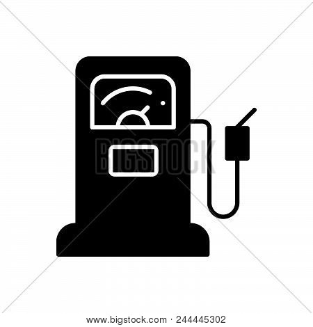 Gas Station Vector Icon On White Background. Gas Station Modern Icon For Graphic And Web Design. Gas
