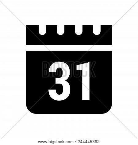 Calendar Vector Icon On White Background. Calendar Modern Icon For Graphic And Web Design. Calendar