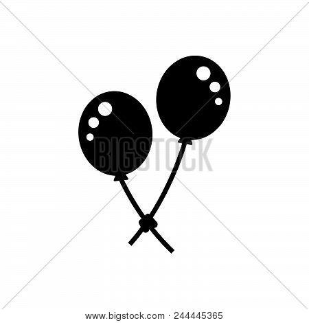 Balloon Vector Icon On White Background. Balloon Modern Icon For Graphic And Web Design. Balloon Ico