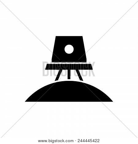 Space Exploration Vector Icon On White Background. Space Exploration Modern Icon For Graphic And Web