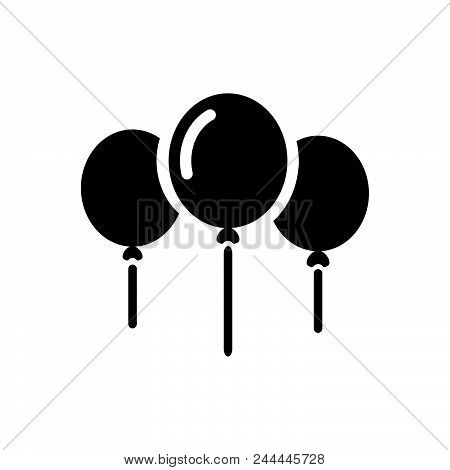 Helium Balloons Vector Icon On White Background. Helium Balloons Modern Icon For Graphic And Web Des