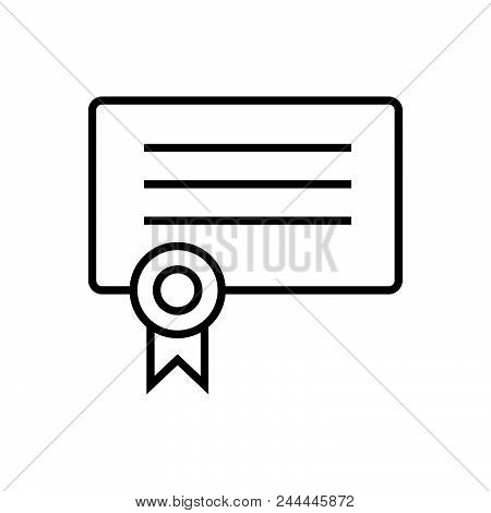 Certificate Outlined Symbol Of Qualification Document. Certificate Icon. Certificate Icon. Certifica