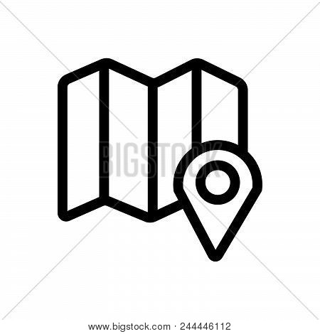 Map, Outlined Symbol Of Location. Map Icon. Map Icon. Map Icon. Map Icon