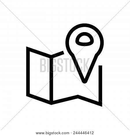 Location On Map Vector Icon On White Background. Location On Map Modern Icon For Graphic And Web Des