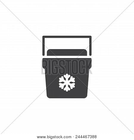 Portable Fridge Vector Icon. Filled Flat Sign For Mobile Concept And Web Design. Ice Cooler Simple S