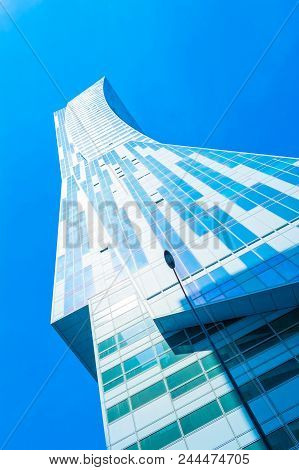 Warsaw, Poland - May 06, 2017: Modern Architecture In Warsaw City - Residential Complex Zlota 44 In