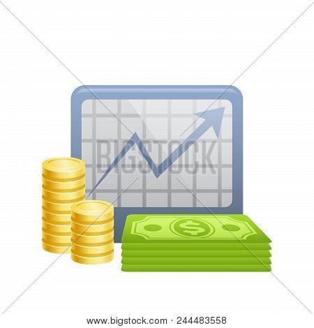 Economy Chart . A Professional, Pixel-aligned Icon Designed .