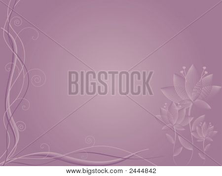 Mauve Abstract Flower Background