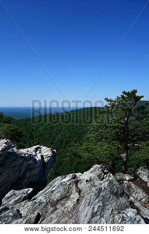 View From The Top Of Hanging Rock State Park, Nc