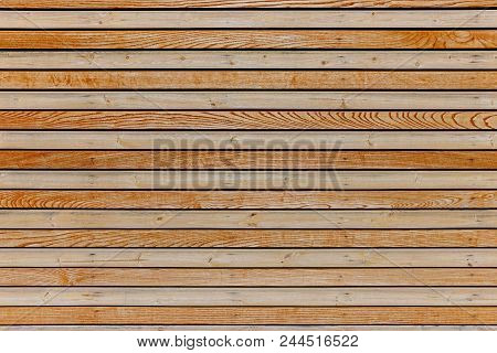 Empty Wooden Wall Of Planks Texture And Background