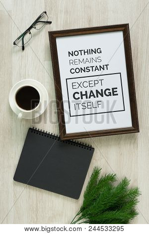 Motivational And Inspirational Quote. Wisdom Quote. Wood Frame And On Wood Background With Quote.rus