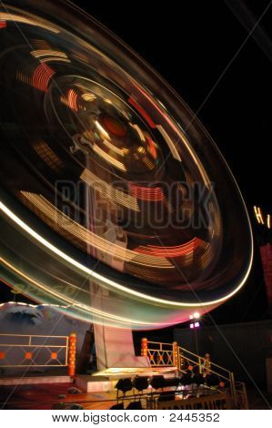 Thick Merry-Go-Round In A Park Of Attraction