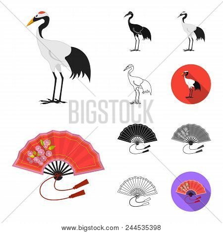 Country Japan Cartoon, Black, Flat, Monochrome, Outline Icons In Set Collection For Design.japan And