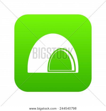 Souffle Icon Digital Green For Any Design Isolated On White Vector Illustration