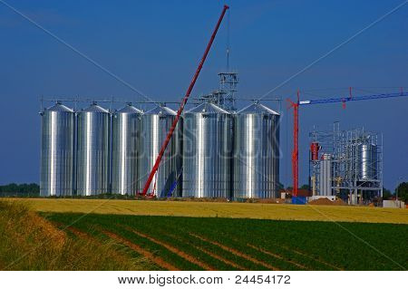 Construction of a silo