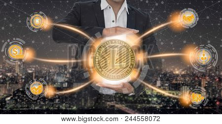 Litcoin Ltc And Cryptocurrency Investing Concept.