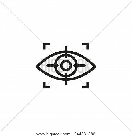 Eye Scanning Line Icon. Human, Iris, Focus. Recognition Concept. Can Be Used For Topics Like Detecti