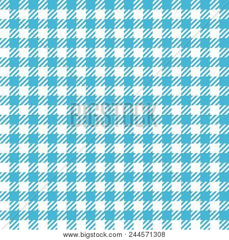 Check Fashion Tweed White And Blue Seamless Pattern For Textile Prints, Wallpaper, Wrapping, Fabric