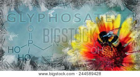 Metaphorical Illustration Showing The Impact Of Glyphosate On Biodiversity