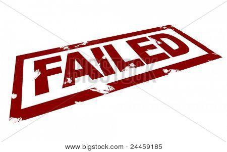 3D Illustration of a Failed Mark