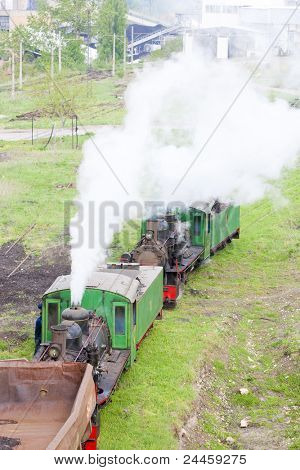 steam freight trains, Kostolac, Serbia