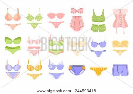 Comfortable Men And Women Underwear In Pastel Blue And Yellow Colors Matching Sets Collection Of Cli