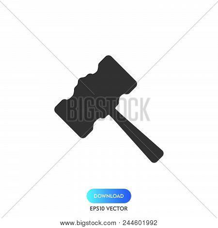 Judge Gavel Icon Simple Vector Sign And Modern Symbol. Judge Gavel Vector Icon Illustration, Editabl