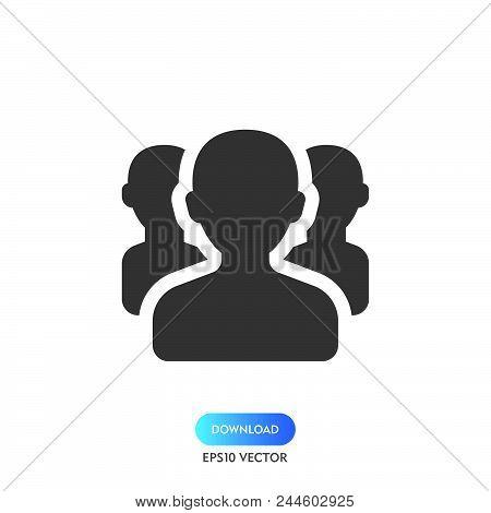 Team Icon Simple Vector Sign And Modern Symbol. Team Vector Icon Illustration, Editable Stroke Eleme
