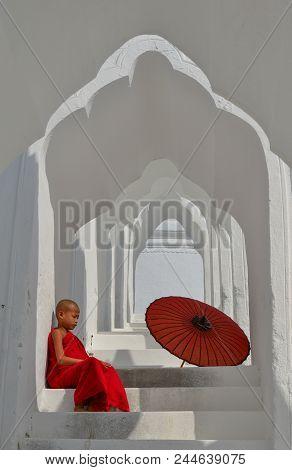 A Buddhist Novice Monk At White Temple