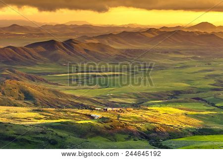 Belvedere Of Itto Valley, A Beautiful Landscape Between Hajeb And Azrou, In The Middle Atlas Mountai